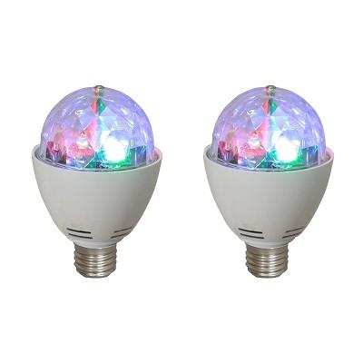 AudioPipe ZYB-13S Zebra Sound LED 5 Volt 1 Watt DC Motor Magic Disco Light Bulb (2 Pack)