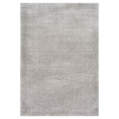 6'7 x9' Solid Loomed Area Rug Silver - nuLOOM