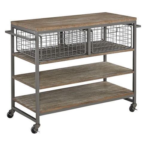 barnside metro kitchen cart gray home styles - Metro Kitchen