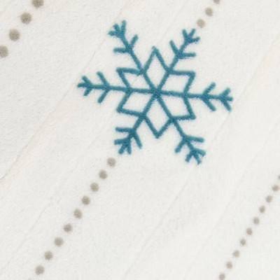 White/Teal Snowflake