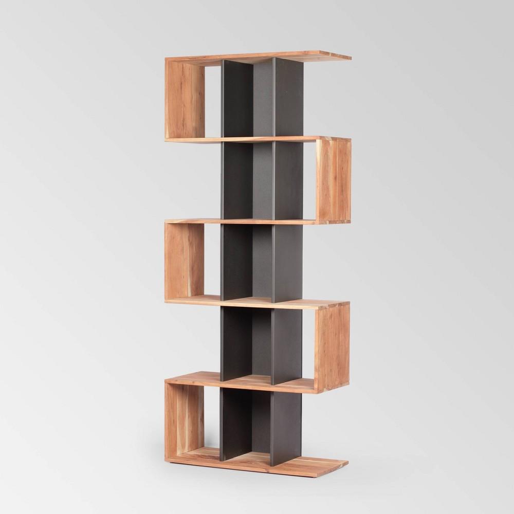 75 34 Bassett Modern Bookshelf Natural Christopher Knight Home