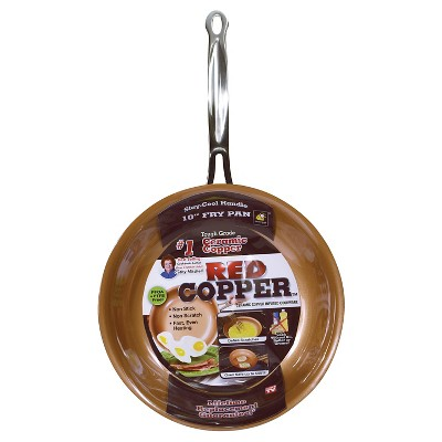 As Seen on TV 10  Frying Pan Red Copper