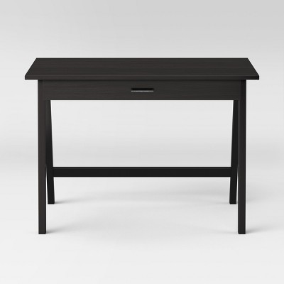 Paulo Wood Writing Desk with Drawer Black - Project 62™