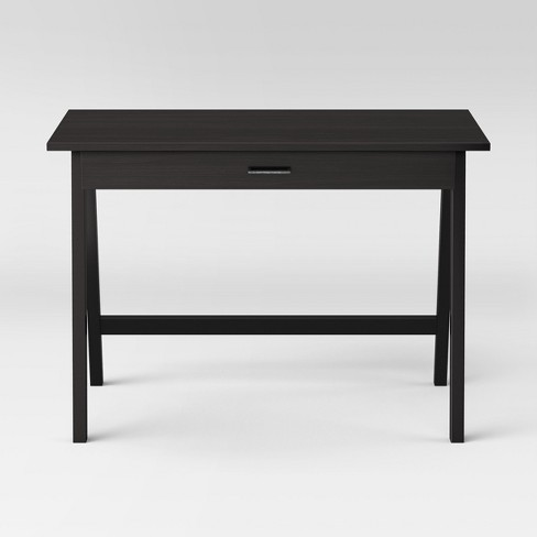 Paulo Wood Writing Desk with Drawer Black - Project 62™ - image 1 of 3