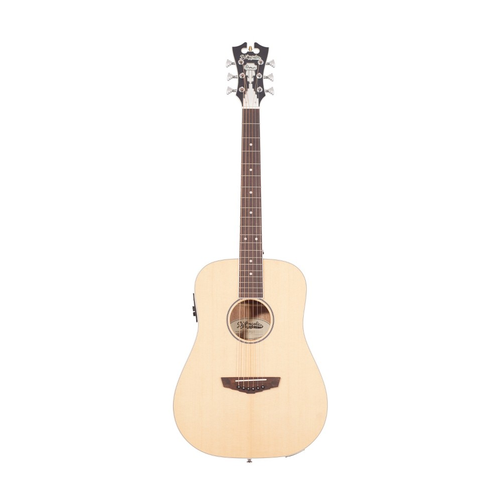 D'Angelico Premier Niagra Acoustic-Electric Guitar - Natural Spruce, Washed Wood
