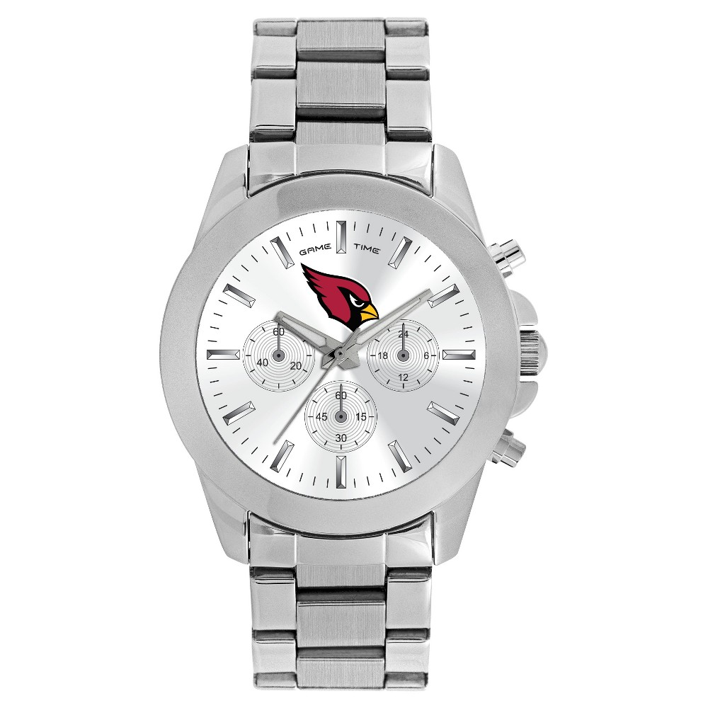 Women's Game Time NFL Knockout Sports Watch - Silver - Arizona Cardinals