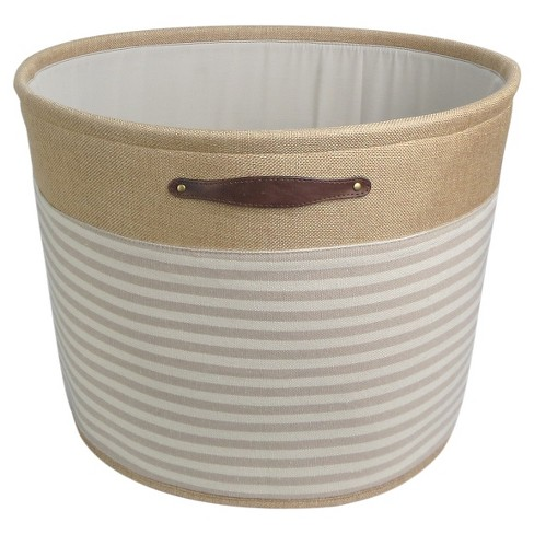 Round Fabric Basket with Handles - Stripes - Threshold™ - image 1 of 1