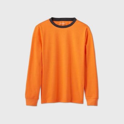 Boys' Long Sleeve Favorite T-Shirt - Cat & Jack™ Orange XS