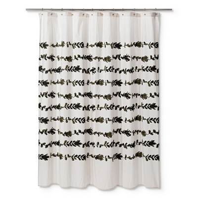 Floral Palm Tree Shower Curtain Cream - Project 62™