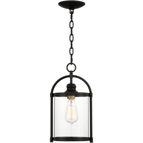 """John Timberland Modern Outdoor Hanging Light Fixture Black Warm Brass Metal 15"""" Clear Glass for Exterior House Porch Patio Outside - image 1 of 4"""