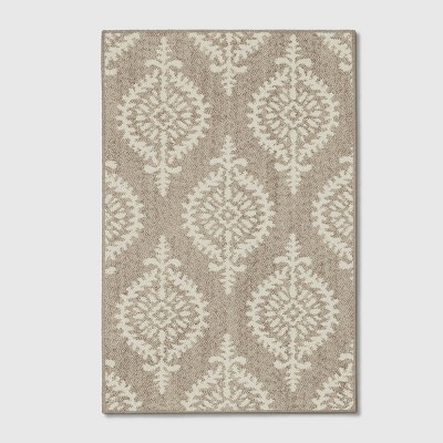 4'X5'6  Paisley Tufted Accent Rugs Gray - Threshold™