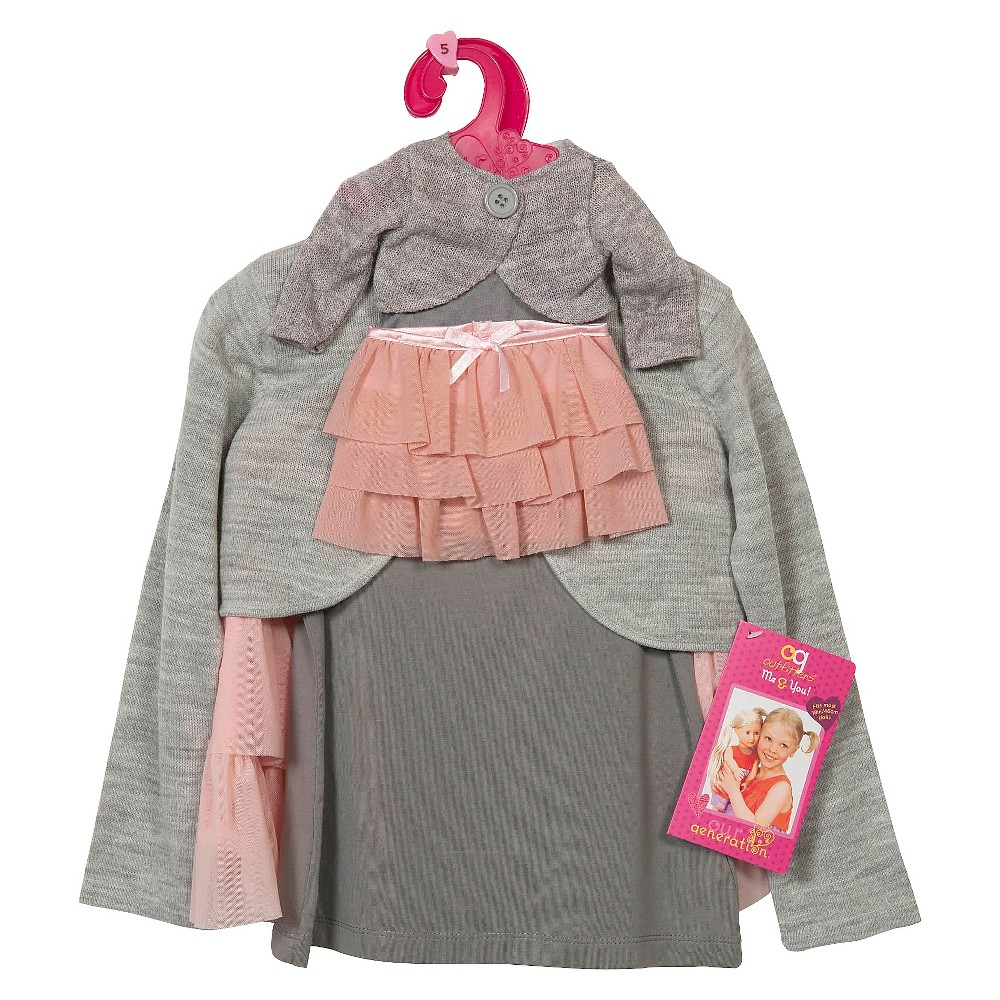 Our Generation Me & You Outfit - Gray Top/Pink Skirt - Size 8-10