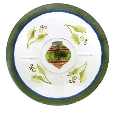 "Tabletop 2.25"" Ornament 5 Section Server Christmas Evergreen Enterprises Inc  -  Serving Platters"