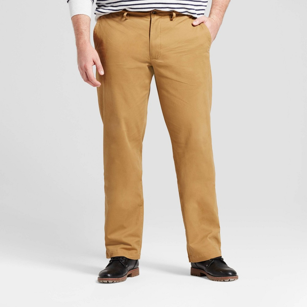 Men S Big Tall Straight Fit Hennepin Chino Pants Goodfellow Co 8482 Light Brown 46x30