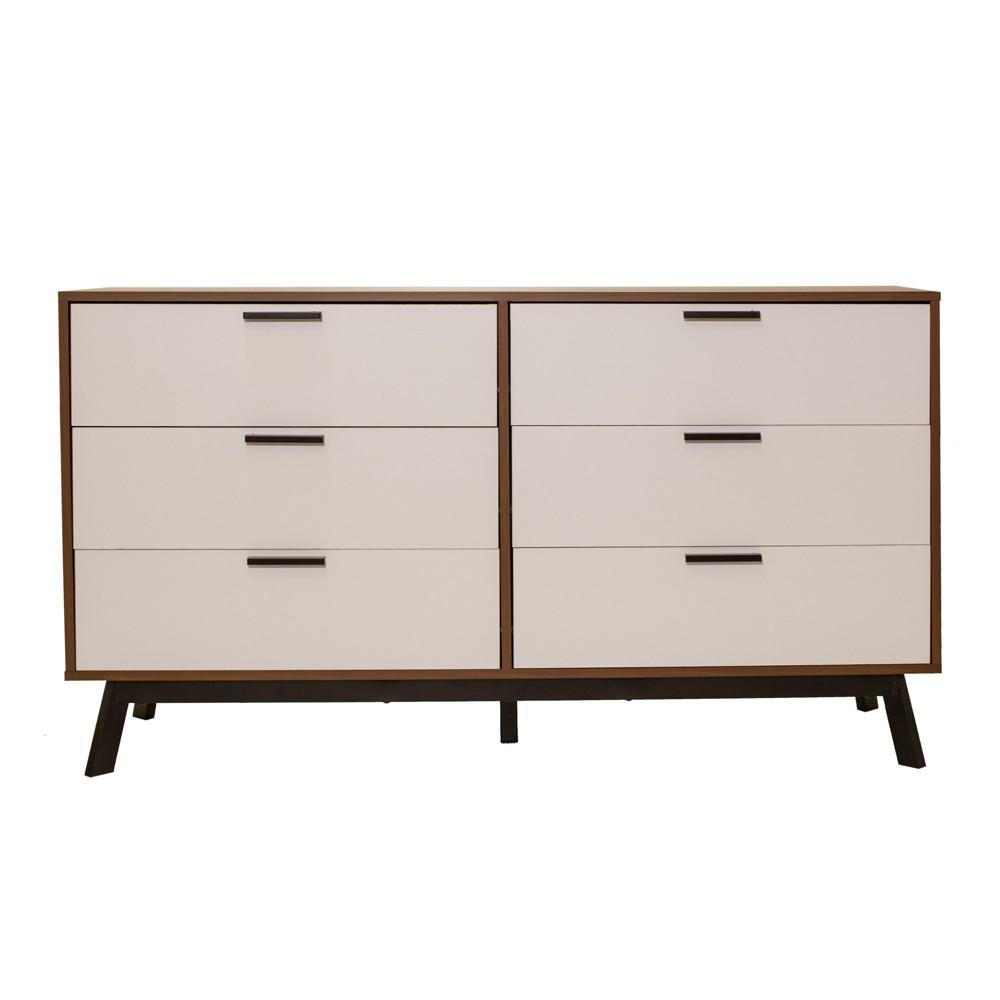 Image of Aspen 6 Drawer Dresser Vintage Reddish/Brown - Loft 607
