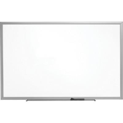 MyOfficeInnovations Standard Melamine Whiteboard Aluminum Finish Frame 2'W x 1.5'H 1682293