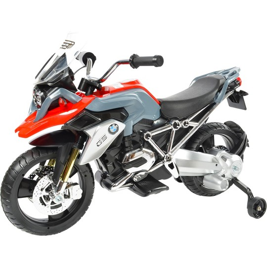 Rollplay BMW 6V Motorcycle - Red/Gray image number null