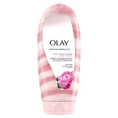 Olay Moisture Ribbons Plus Shea + Peony Blossom Body Wash - 18 fl oz - image 1 of 3