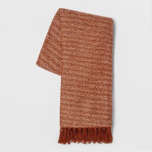 Woven Throw Blanket Orange - Threshold™ - image 1 of 1