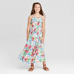 Girls' Floral Knit Maxi Dress - Cat & Jack™ White