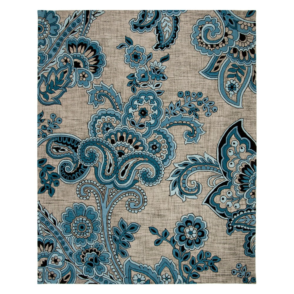8'X10' Paisley Tufted Area Rug Gray/Blue - Safavieh