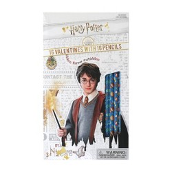 Harry Potter 16ct Valentines With Pencils