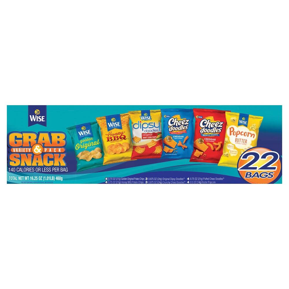 Wise Grab Snack Variety Pack 22ct