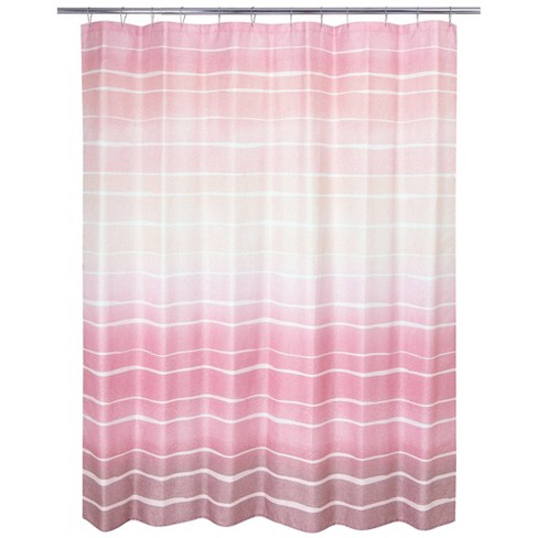 Metallic Ombre Striped Shower Curtain - Allure Home Creations - image 1 of 4