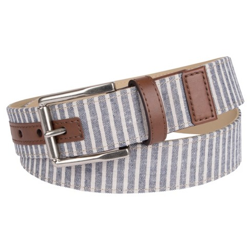 Men's 35mm Non Reversible Belt With English Tab - Merona™ M - image 1 of 1