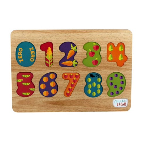 Chuckle & Roar 2pk Wood Puzzles - ABC's & 123s 24pc - image 1 of 4