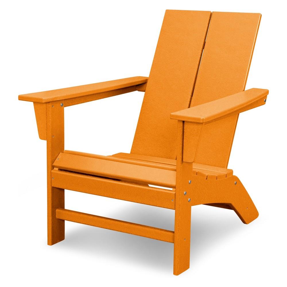 Polywood St. Croix Contemporary Adirondack - Tangerine (Orange)