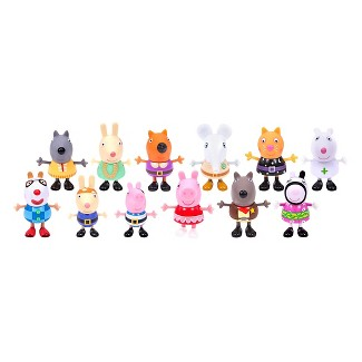 Peppa Pig Fancy Dress Party Figures - 12 Pack