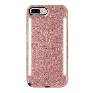 LuMee Apple iPhone 8 Plus/7 Plus/6s Plus/6 Plus Duo Glitter Case - Rose