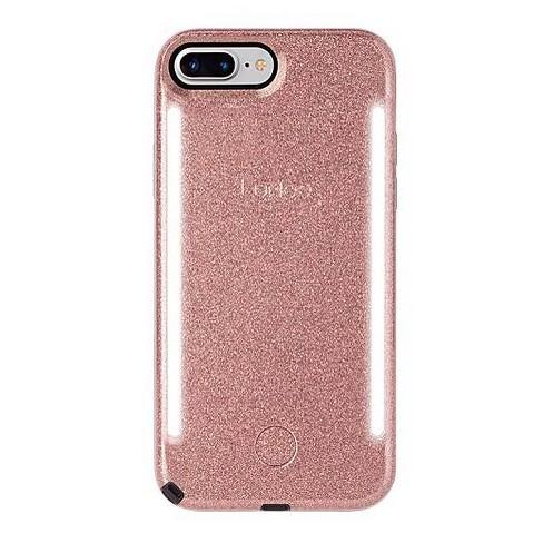 LuMee Apple iPhone 8 Plus/7 Plus/6s Plus/6 Plus Duo Glitter Case - Rose - image 1 of 5
