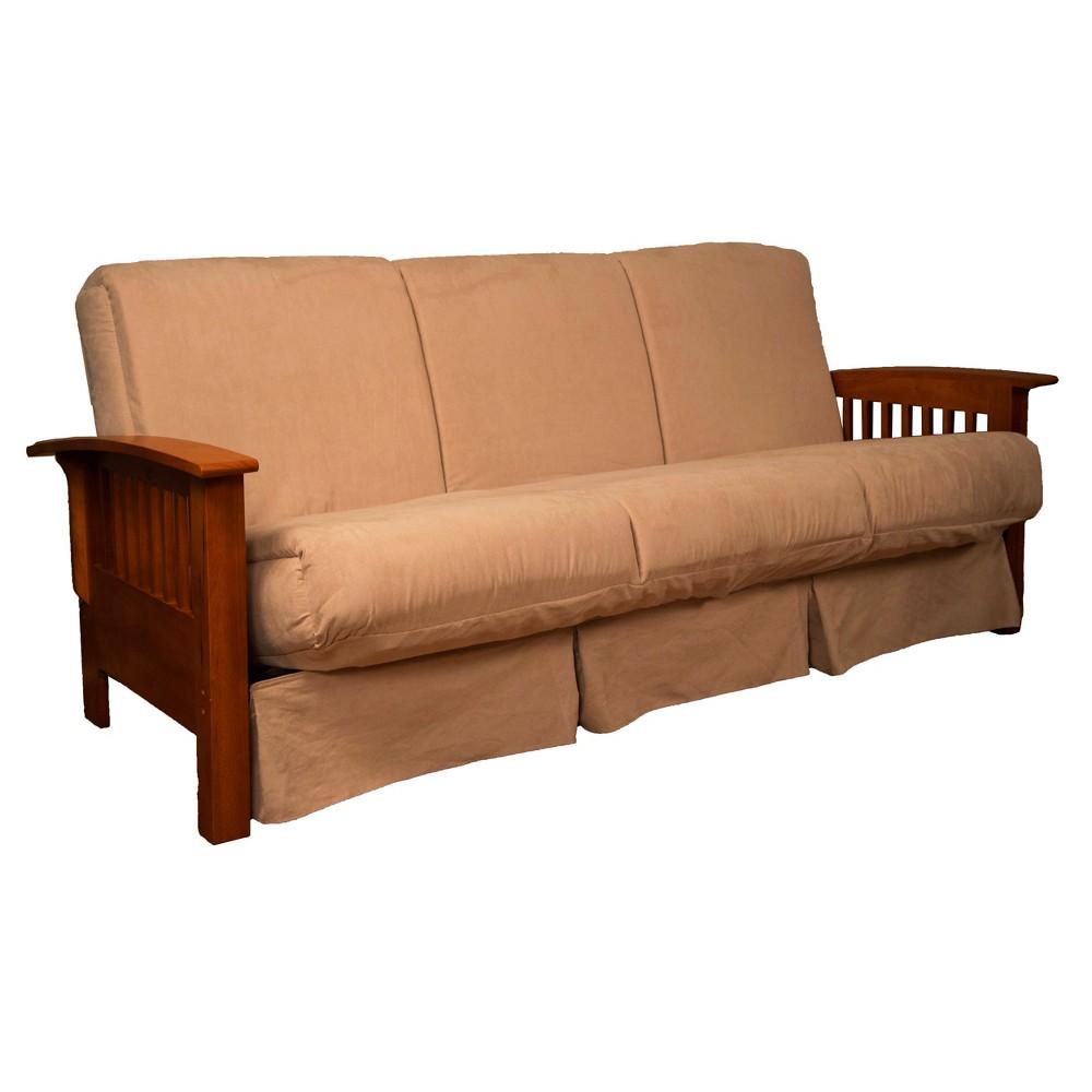 Craftsman Perfect Futon Sofa Sleeper - Walnut Wood Finish - Epic Furnishings, Green
