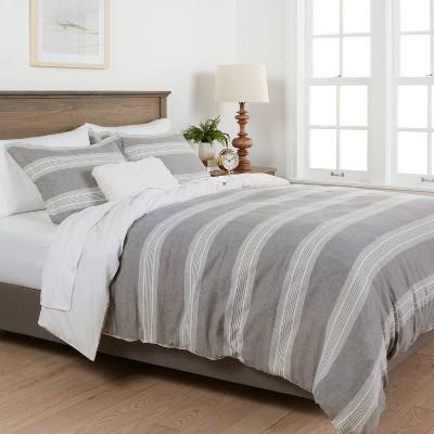 Chambray Yarn Dye Stripe Duvet & Sham Set - Threshold™ : Target