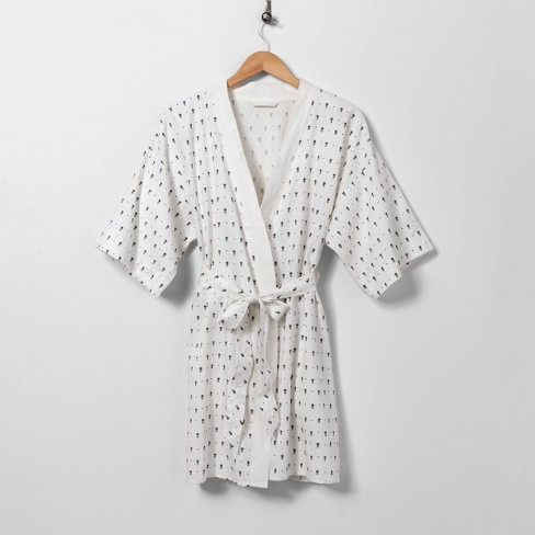 Cream Floral Robe - Hearth & Hand™ with Magnolia - image 1 of 2