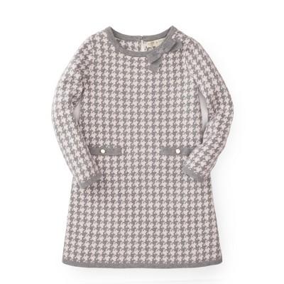 Hope & Henry Girls' Brown Houndstooth Sweater Dress, Infant