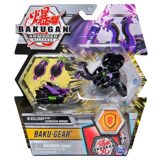 """Bakugan Ultra Nillious with Transforming Baku-Gear Armored Alliance Collectible Action Figure 3"""" image number null"""
