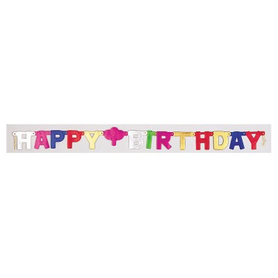 Small Happy Birthday Party Banner