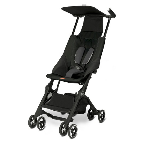 Gb Pockit Compact Stroller Monument Black