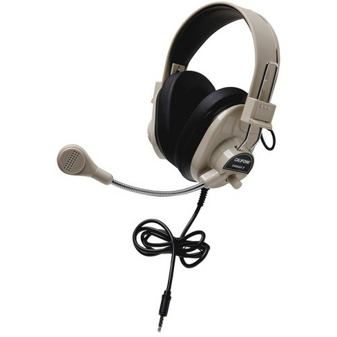Califone Deluxe Stereo Headset With To Go Plug - Stereo - Mini-phone - Wired - 25 Ohm - 20 Hz - 20 kHz - Over-the-head - Binaural - Circumaural - image 1 of 1