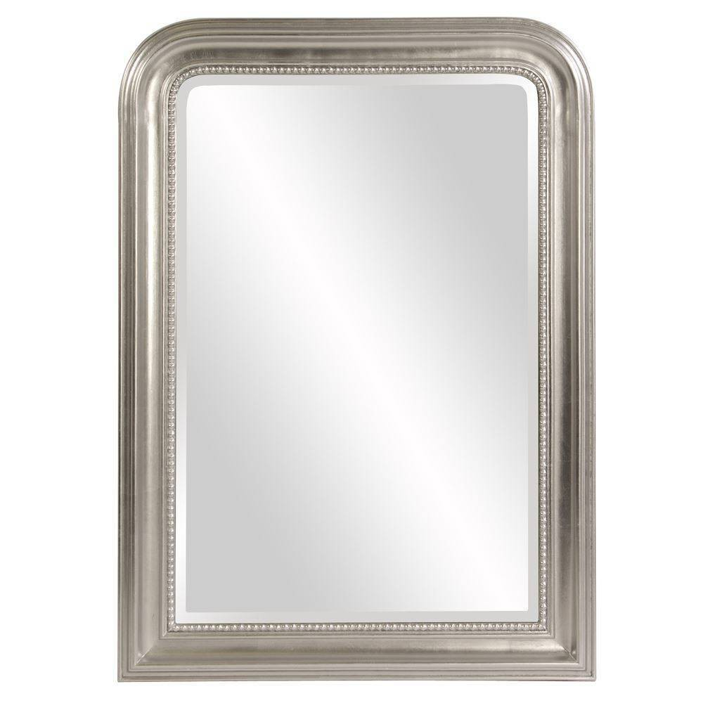 Image of Howard Elliott - Sterling Arched Silver Mirror