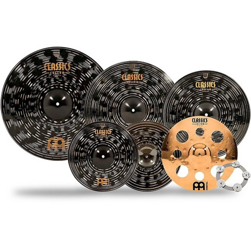 Meinl Classics Custom Dark Double Bonus Cymbal Set with Free Classics Custom Trash Crash and Ching Ring - image 1 of 4