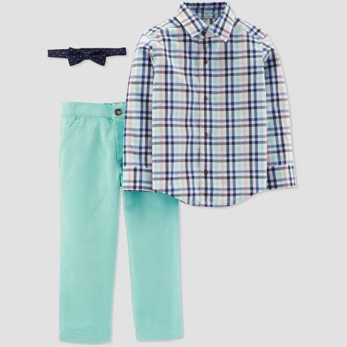 f95c892c2 Toddler Boys' Plaid Pant Set - Just One You® made by carter's Blue/Mint