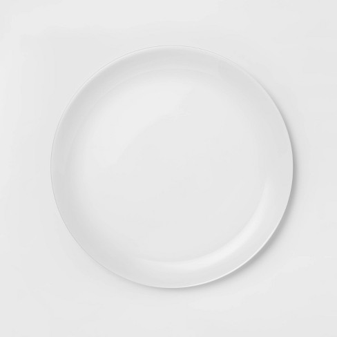 """Glass Dinner Plate 10.7"""" White - Made By Design™ - image 1 of 4"""