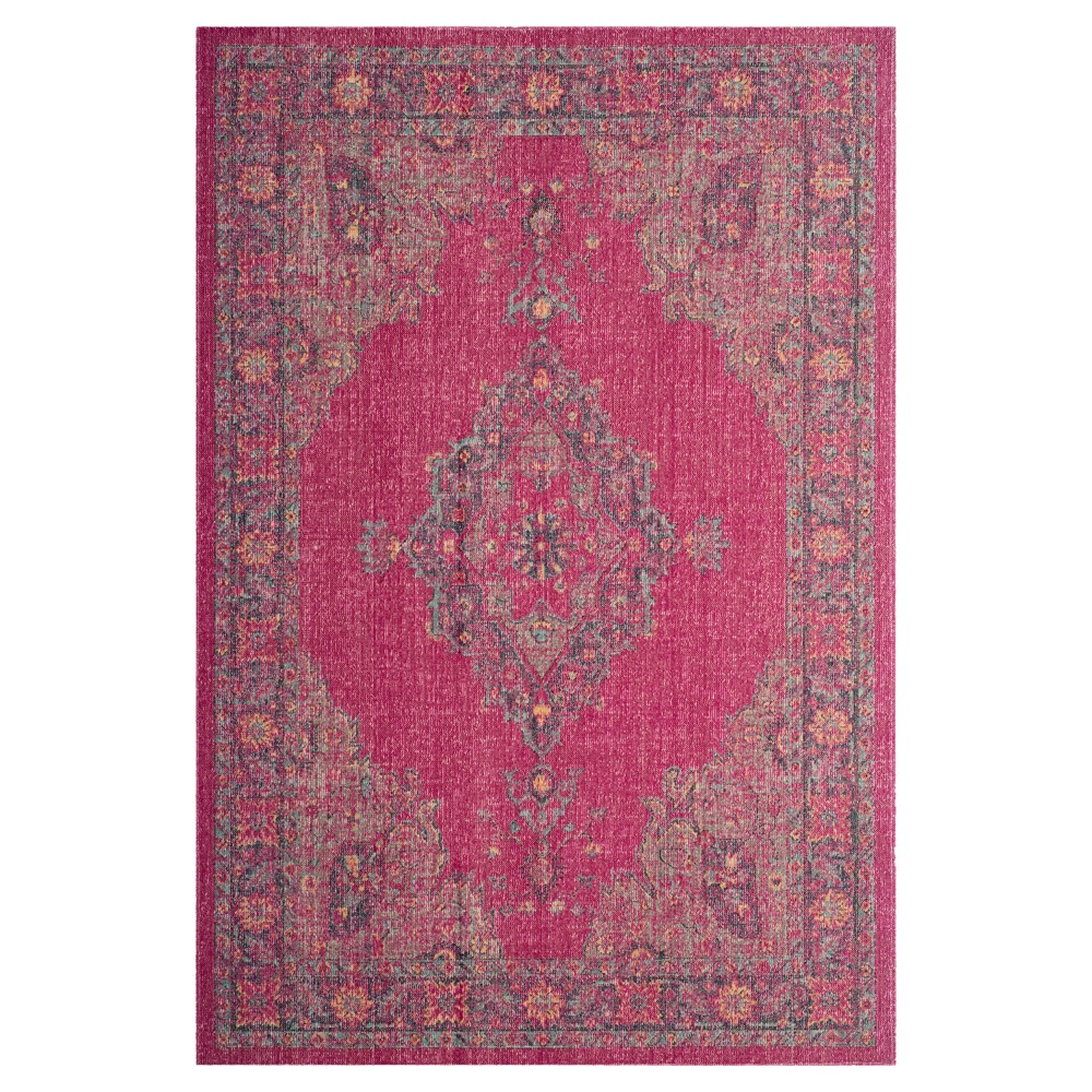 Best Review FuchsiaNavy PinkBlue Medallion Loomed Accent Rug 33X53 Safavieh