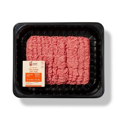 All Natural 75/25 Ground Beef - 3lbs - Good & Gather™
