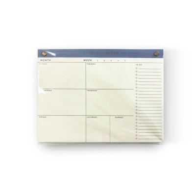 "Undated 52pg 10"" x 7.5"" Weekly Desktop Notepad - Threshold™"