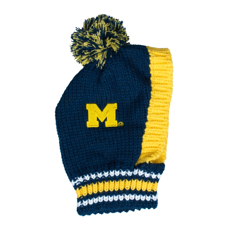 Michigan Wolverines Little Earth Pet Knit Football Hat - L